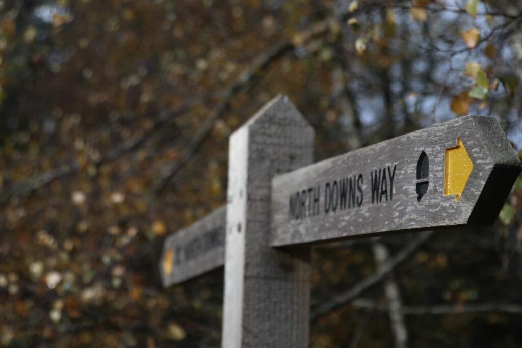 North Downs Way marker