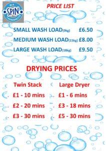 prices launderette camborne