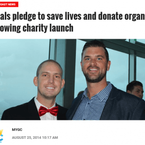 My GC: Locals pledge to save lives and donate organs following charity launch