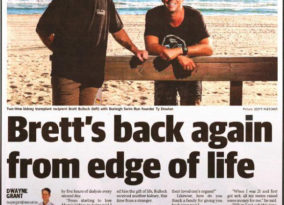 Brett's back again from edge of life