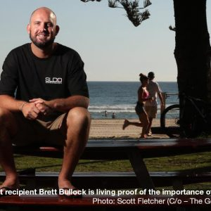 Two time transplant recipient links with Burleigh Swim Run to raise awareness of organ donation