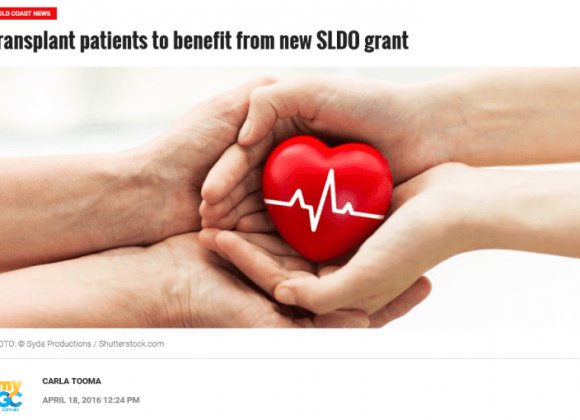 My GC: Transplant patients to benefit from new SLDO grant