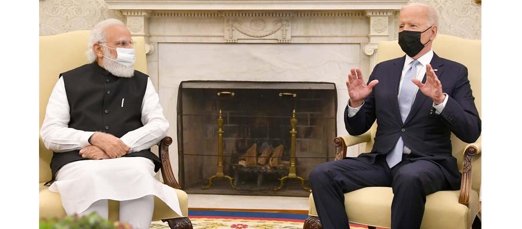 प्रधानमन्त्री मोदी और राष्ट्रपति बाइडेन के बीच किन मुद्दों पर सहमति बनी ?