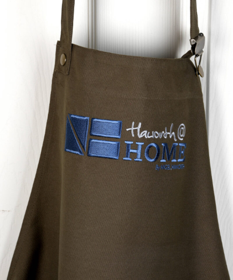 "Khaki ""dungaree"" apron"