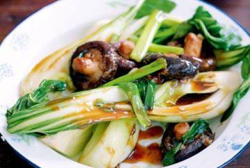 bok choy mushroom oyster sauce