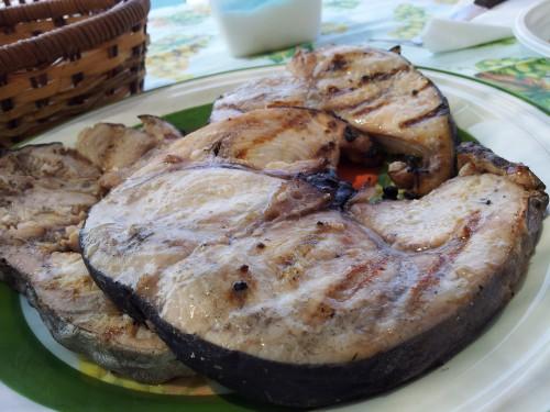 sword fish steak grilled