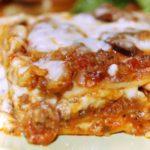 turkey sausage mushroom lasagna