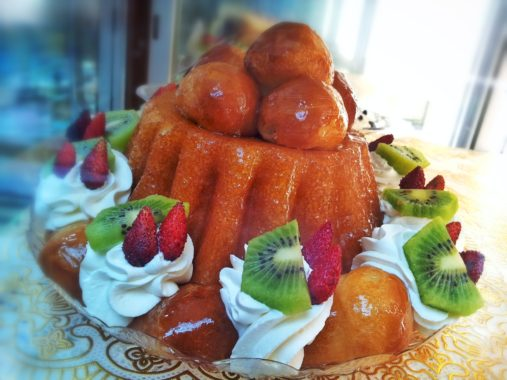 rum baba in Naples Italy