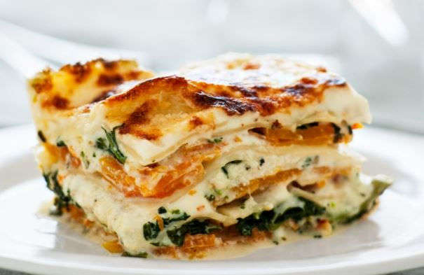 butternut squash and broccoli rabe lasagna