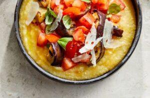 polenta eggplant tomato