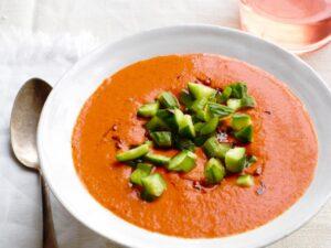 simple smooth tomato gazpacho