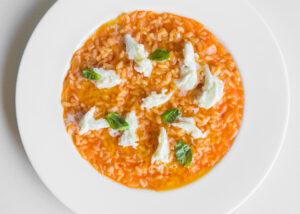 risotto with fresh tomato and mozzarella