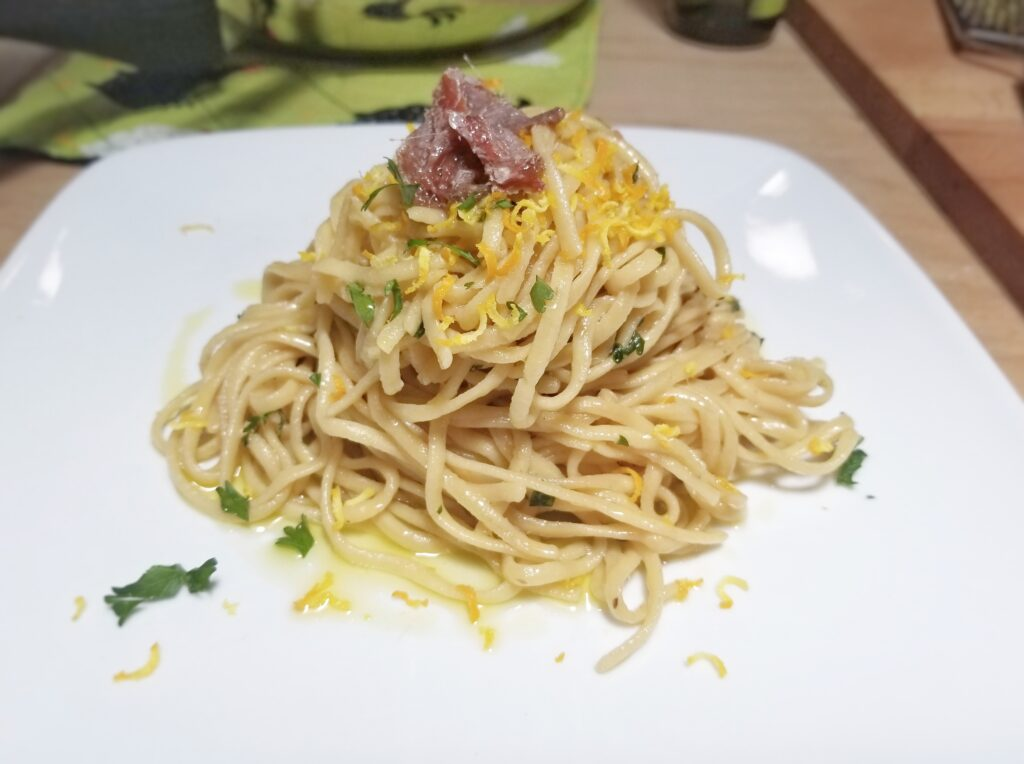 linguine and anchovies