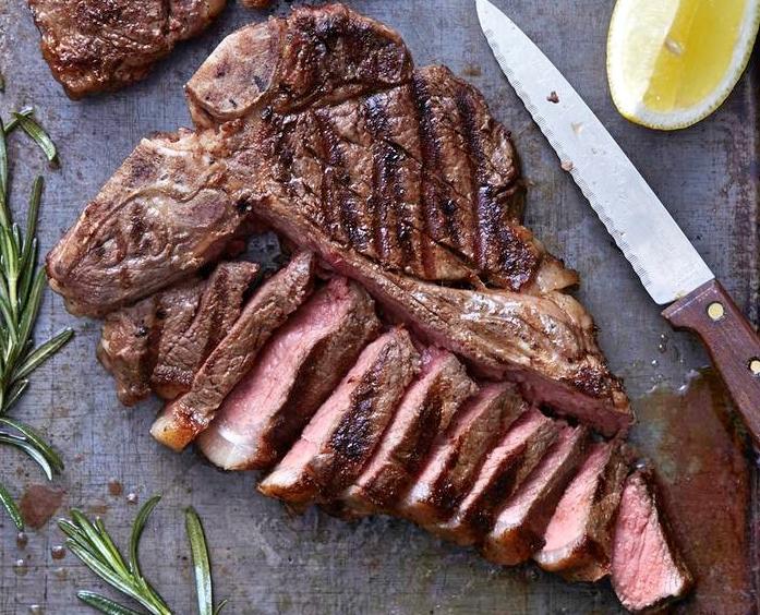 bistecca sliced