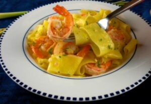 pappardelle with shrimp and lemongrass