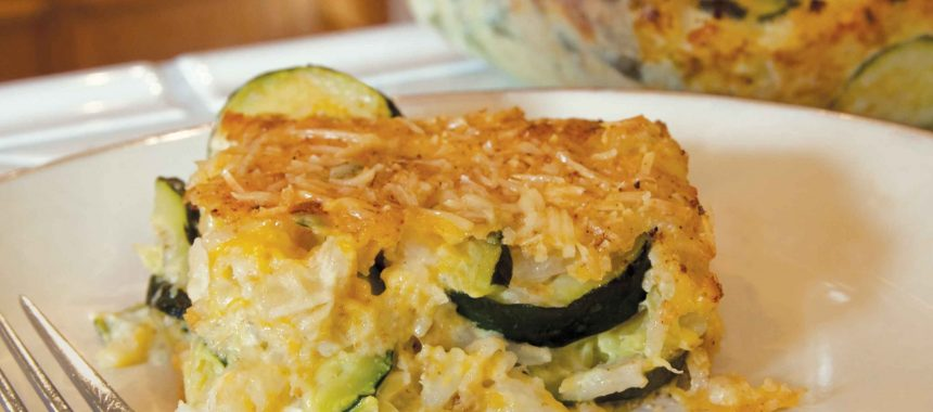 baked zucchini with rice