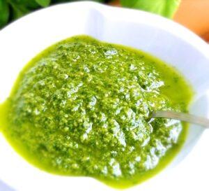 basil pesto without garlic