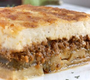 traditional Greek recipe for moussaka
