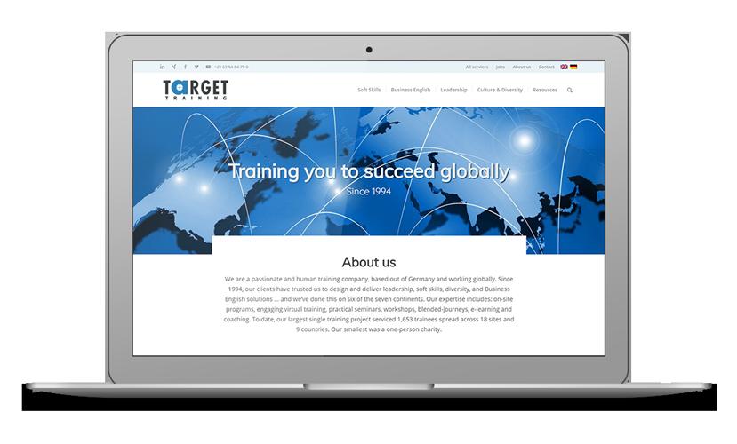 Target Training website