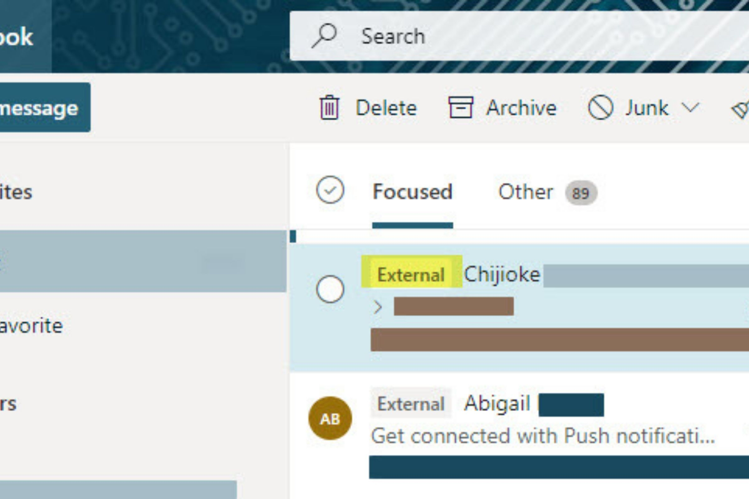 Email tag