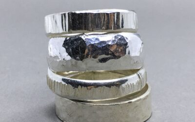Hammered or Stamped Rings