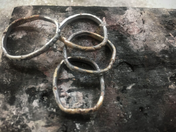 Wire rings soldered