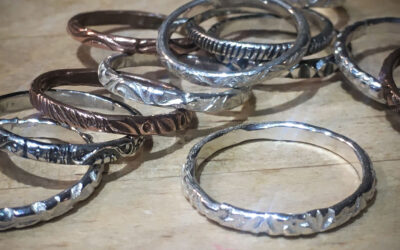 Silver Patterned Rings