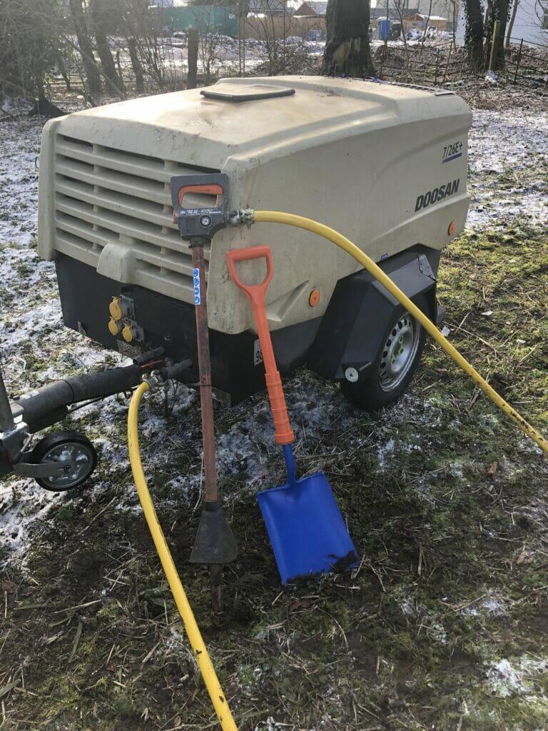 Air Spade and compressor