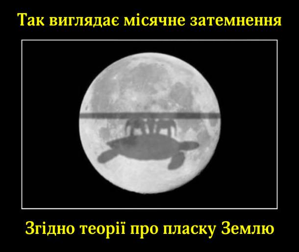 Так виглядає місячне затемнення згідно теорії про пласку Землю