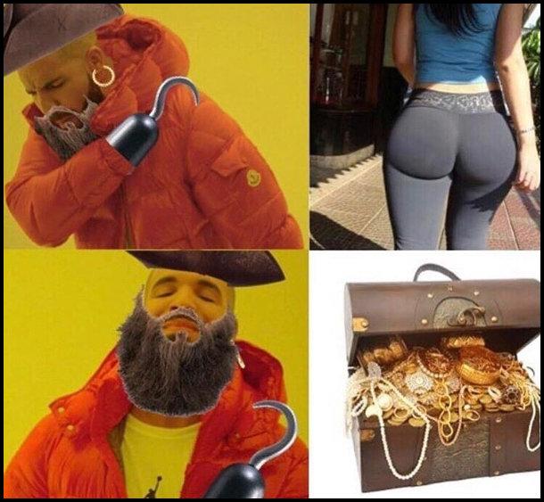 Пірат. Дівочі сідниці - ні. Скриня з скарбами - саме то.