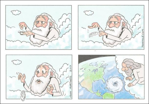 Як з'являються урагани. Бог розкрутив спінера і впустив нв землю