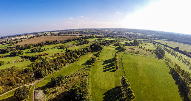 drone image of Ansty Golf Centre