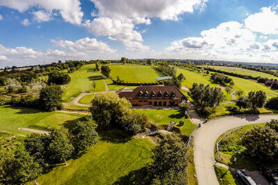 Ansty Golf centre drone image