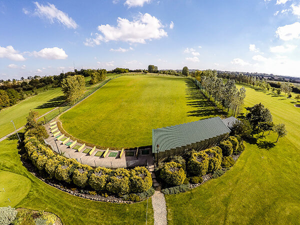 Drone image of the golf range