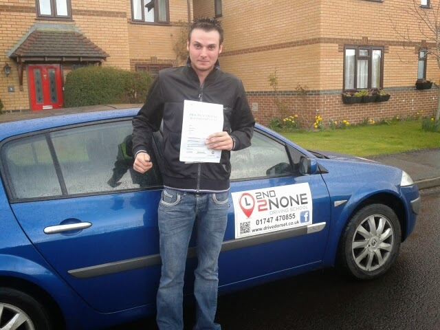 First Time Driving Test Pass from Gillingham Dorset