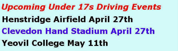 Upcoming Under 17s Driving Events
