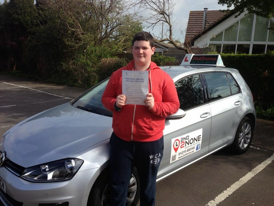 Another driving test pass for John Hodson from Portishead