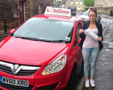 Well done Raima Cade on passing your driving test