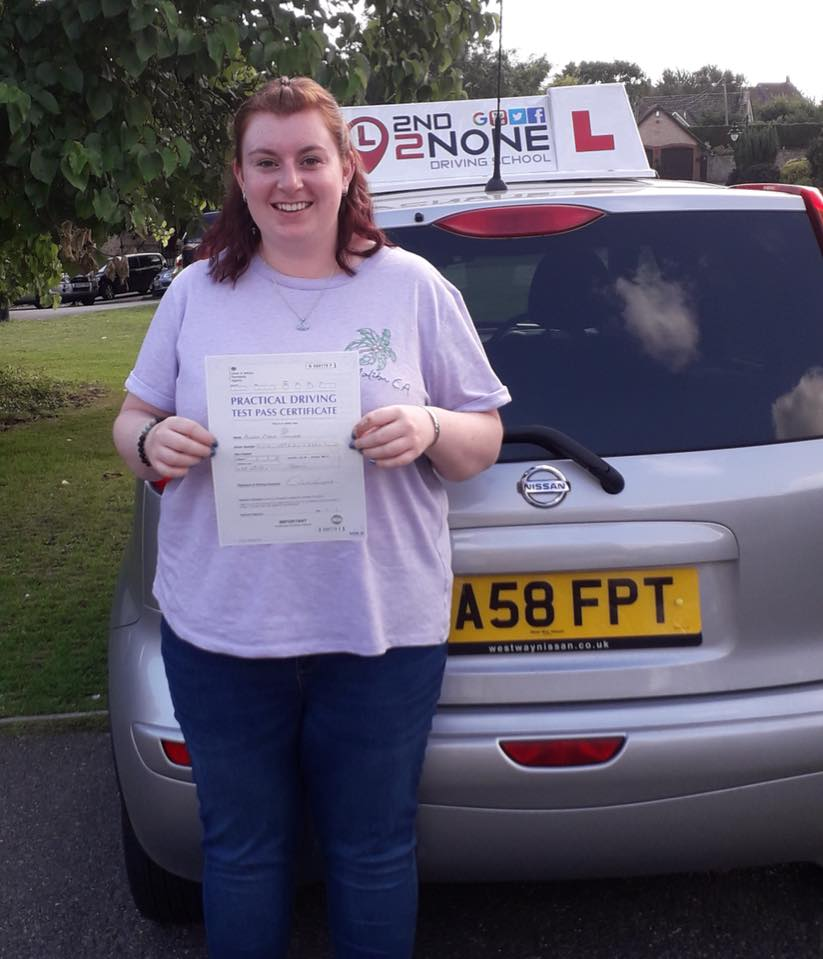 A ZERO fault result for Automatic Driving Lessons Gillingham Dorset