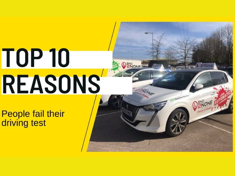 The Top 10 Reasons for failing your driving test
