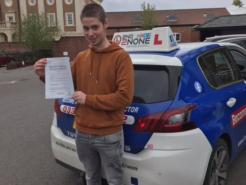 Local driving instructor James Orgar does it again with his latest pupil from Shaftesbury.