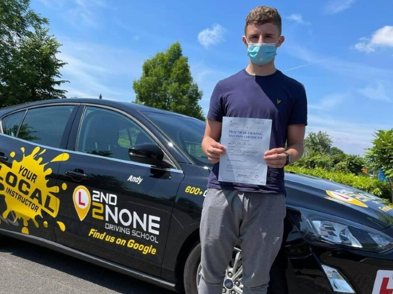 Local driving instructor Andy does it again with another happy pupil in Bristol