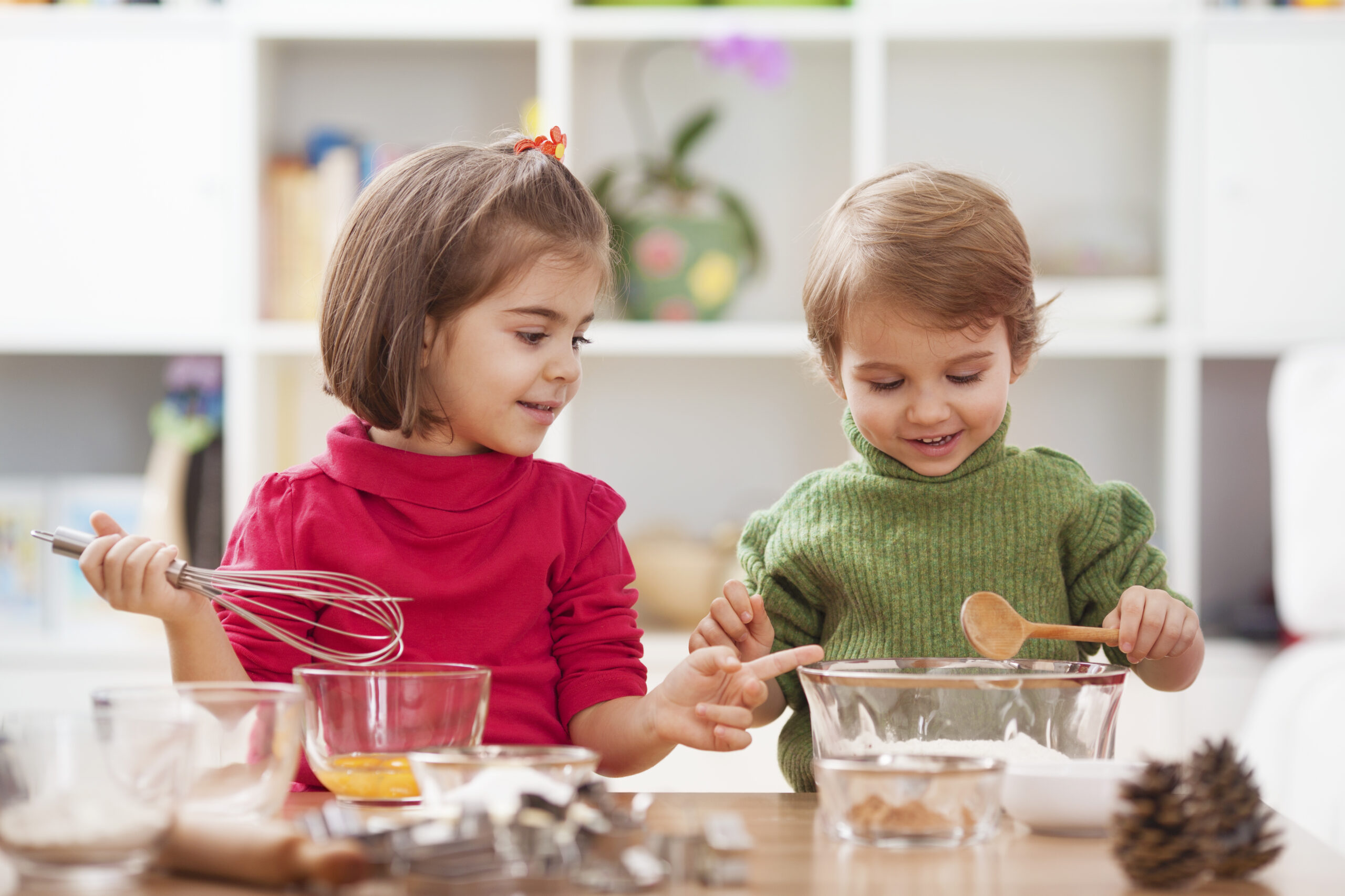 Two,Little,Children,Making,Cookies.