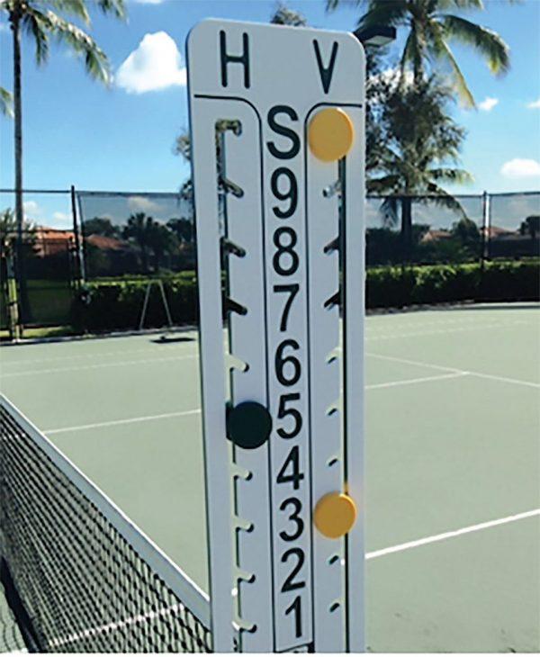 Loveone Tennis Scoreboard Green Yellow
