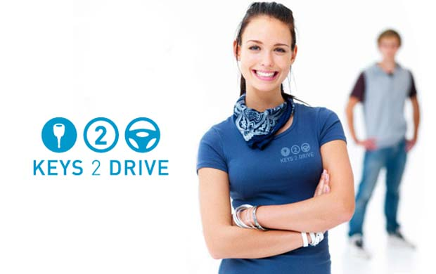 exl driving school keys 2 drive logo