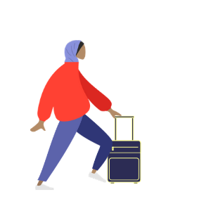 Halal travel woman