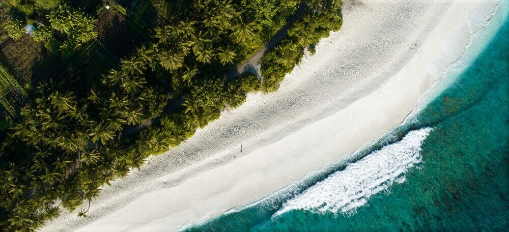 Aerial view of Maldives