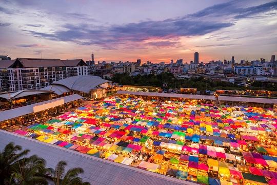 View of Chatuchak Market in Bangkok