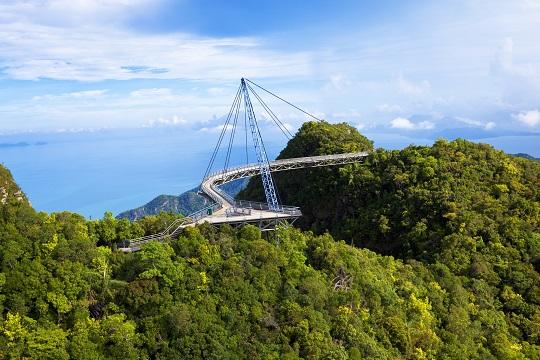 View of sky bridge in Langkawi, Malaysia