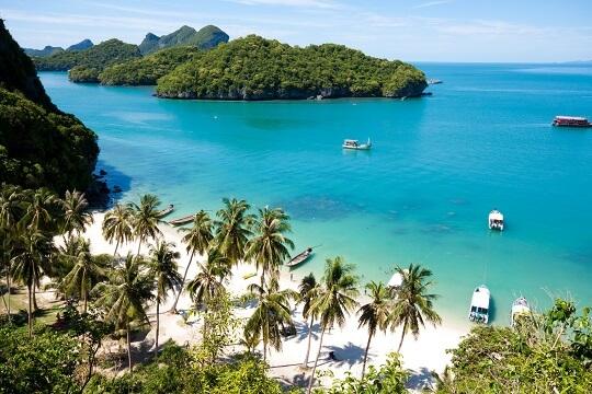 View of Koh Samui beach, thailand